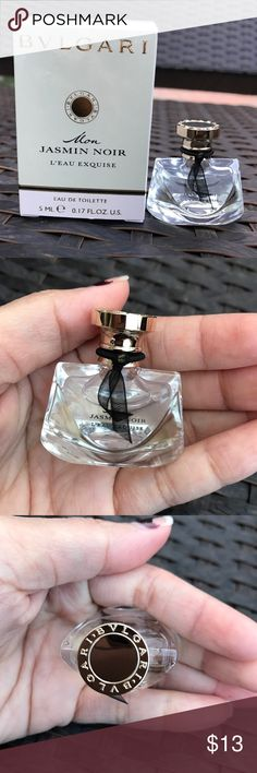 Bvlgari Mon Jasmin Noir Travel size perfume 5 ml Brand New with box. Authentic.  This is a travel size eau de toilette perfume 5 ml / 0.17 oz  Bvlgari's newest fragrance, Jasmin Noir, captures the irresistible charm of a mysterious and intensely sensual woman.  - Perfect for Travel or gift giving bvlgari Other