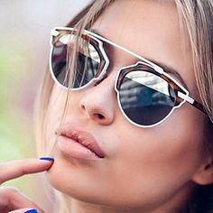 d945467bb1c540 High quality Vintage Sun Glasses Woman Fashion Round Sunglasses for Women  Multicolor Shades Retro Lunette de soleil femme - Intl