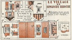 This really beautiful and rare set of 13 little buildings that make up a Vintage French Village have been preserved and are kindly shared by French website Agence Eureka.