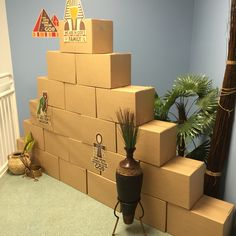 Group Egypt VBS easy pyramid *Might be good to block off large areas