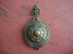 Vintage Ornate Hand Wrought Brass Piece by CoolFindsShoppe on Etsy