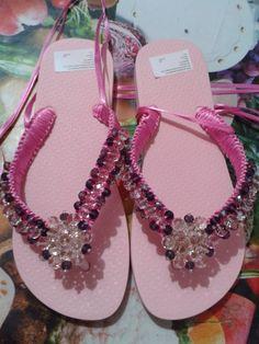 Zapatillas cintas y cristal