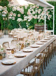 Elegant rose filled ornaments: Photography: Greg Finck - http://www.gregfinck.com   Read More on SMP: http://www.stylemepretty.com/destination-weddings/france-weddings/2016/10/17/green-salmon-glamorous-destination-provence-wedding/