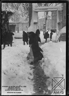 Hacia 1900 el Retiro nevado