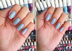 Neon and gray #nails