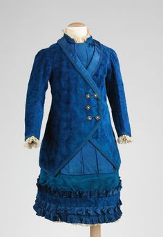 Child's dress, made in France, 1885-90