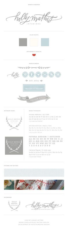 Holly Mathis Interiors || style guide || brand board