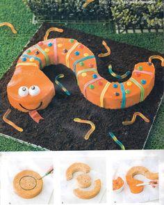 Baby Alice Wonderland: Ideias para festas de crianças - The Snake Cake
