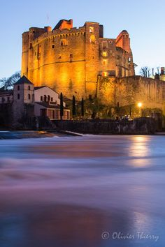 At the Clisson Castle in France.