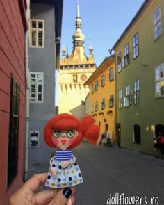 Beautiful doll on the streets of Sighișoara!