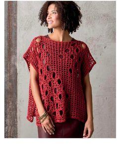 Chaleco Rectangular de UNA sola pieza Patron - Patrones Crochet