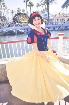 Snow White is so gorgeous. She commonly appears at Royal Hall at #Disneyland so you should definitely make a trip to Royal Hall if you want to meet this fair lady.