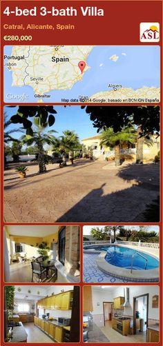 4-bed 3-bath Villa in Catral, Alicante, Spain ►€280,000 #PropertyForSaleInSpain