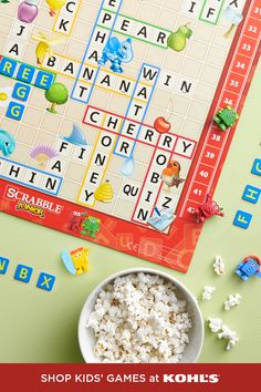 With an extra-busy shipping season ahead, be sure to get your loved ones the gifts they'll love just in time. That means it's game on to find the perfect present for your favorite little one. For a fun challenge, get Scrabble Junior. This version of the classic game has an advanced flip side for when they master matching letter tiles to words. And try our fast and free store pickup or contactless drive up for online orders. Shop holiday games for kids at Kohl's and Kohls.com… Holiday Games, Top Toys, Fun Challenges, Holidays With Kids, Scrabble, Kohls, Games For Kids, First Love, Tiles