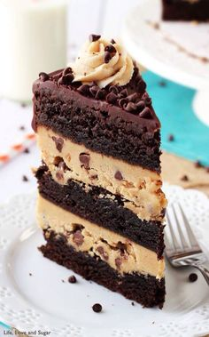 chocolate and cookie dough cake