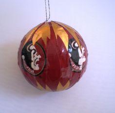 FSU Ornament Christmas Ornament Duct Tape by elegantduck on Etsy, $20.00
