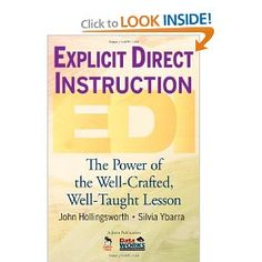 Explicit Direct Instruction (EDI): The Power of the Well-Crafted, Well-Taught Lesson (reading now - very good) First Year Teaching, Student Teaching, School Teacher, Teaching Ideas, Educational Theories, Classroom Organisation, Classroom Projects, Organization, Economics Books