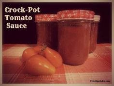 Crock-Pot Tomato Sauce via CrockPotLadies.com #SlowCooker #CrockPot #Canning