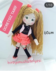 Fox Pattern, Crochet Doll Pattern, Crochet Dolls, Crochet Baby, Amigurumi For Beginners, Gotz Dolls, Amigurumi Toys, Handmade Clothes, Handmade Toys