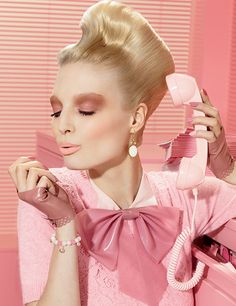 MAC Office Hours Makeup Collection! Adore the hair. Pink set is right up my alley.    #MACcosmetics #hairstyles
