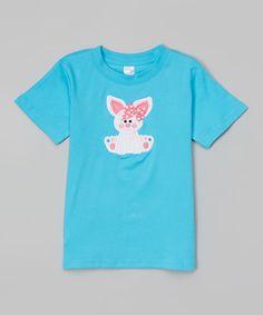 Look at this #zulilyfind! Turquoise Bunny Tee - Toddler #zulilyfinds