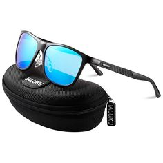 964920e4093 IALUKU Retro Driving Wayfarer Polarized Sunglasses for Men Metal Frame UV  Protection
