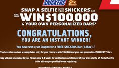 SNICKERS Who Are You When You're Hungry? Game & Sweepstakes  Winner #freestuff #freebies #samples #free