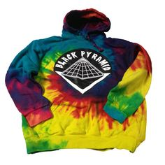 Black Pyramid Tie Dye Hoodie | Mechanical Dummy