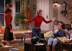 Phyllis ranting at cool Boho Chic Rhoda (after she checks that her hair isn't on fire!) about getting a job, when Rhoda knows she already has a new & better job!