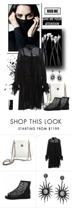 """""""Give Me Attention"""" by majezy ❤ liked on Polyvore featuring Chanel and Sacai"""