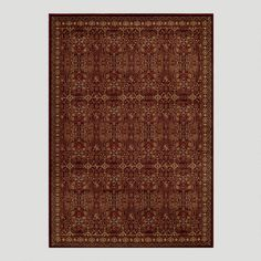 WorldMarket.com: Red Stained Glass Rug.  Example of rug for going under bed.  If going under entire bed, probably should be a 9x12 rug.  Bed will be roughly 6.5ftx7ft