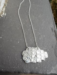 Armor Plated. Cast Sterling Silver Armadillo Bone Casting Necklace Handmade . Lost wax technique hand-cast by Chymiera