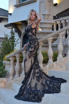 Hampton Gown low back lace gown with a beautiful long train - Mia Bella Couture Event Dresses, Bridal Dresses, Prom Dresses, Masquerade Gown, Lace Bralette Top, Next Wedding, Wedding Ideas, Dream Wedding, Sheer Dress