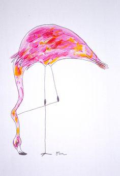 Catchii, flamingo illustration