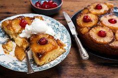 Κέικ αναποδογυριστό με καραμελωμένο ανανά | Συνταγή | Argiro.gr - Argiro Barbarigou Apple Pie Recipes, Vegan Recipes, Food Categories, Yummy Cakes, Caramel, French Toast, Muffins, Deserts, Sweets
