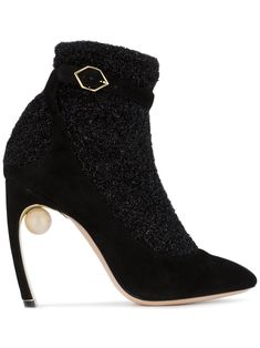 NICHOLAS KIRKWOOD | Black Lola Pearl 105 Sock Boots #Shoes #NICHOLAS KIRKWOOD