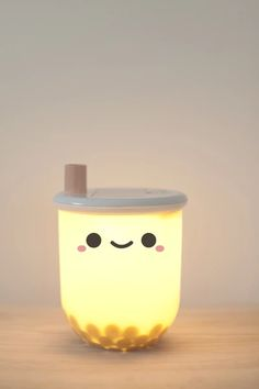 If you are a fan of milk tea, then this just might be the light you need. Whether you are navigating through the dark, or just want a cute decor on your desk, Pearl is your best late-night companion. Comes with boba balls too! Food Kawaii, Kawaii Stuff, Cute Night Lights, Kawaii Room, Cute Room Decor, Bubble Tea, Milk Tea, My Room, Cool Things To Buy