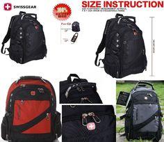 Original Unisex Swissgear Backpack School Laptop Bag Gym/Sport Bag SA1418 Nylon