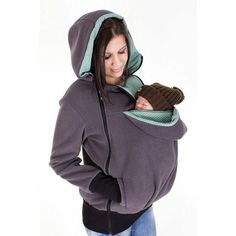 Baby Carrier Jacket Kangaroo Winter Maternity Outerwear Coat for Pregnant Women Thickened Pregnancy Wool Baby Wearing Coat Women