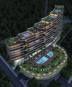 The Skinny On Choosing The Best Hotels – Hotels Hotel Design Architecture, Plans Architecture, Green Architecture, Commercial Architecture, Concept Architecture, Futuristic Architecture, School Architecture, Amazing Architecture, Architecture Details