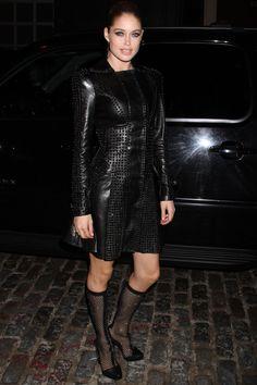 Celebrities en la fiesta de Versace en Nueva York: Doutzen Kroes de Versace