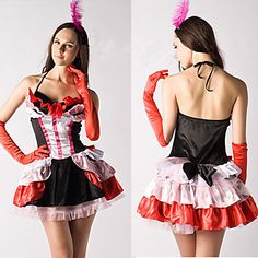 Halloween/Carnival Female Burlesque Costumes/More Costumes Costumes Dress/Gloves – USD $ 29.99