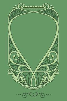 Included in this file is natural art nouveau frame vector. Art Nouveau Frame, Motifs Art Nouveau, Azulejos Art Nouveau, Design Art Nouveau, Motif Art Deco, Art Nouveau Pattern, Art Nouveau Mucha, Clipart, Tatuaje Art Nouveau