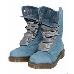 Dr. Martens Aimee 9-Eye Boot Denim | Dr. Martens - Womens | China Blue Shoes
