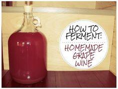 How to make WILD FERMENTED Homemade Grape Wine - YouTube More
