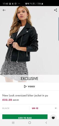 Video New, New Look, Biker, Sequin Skirt, Sequins, Autumn, Skirts, Jackets, Black