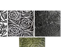 """""""Rose"""" marble tile by Kreoo. Available in three fashions: Bas Relief, three-dimensional Graffiti and marble inlay. http://www.kreoo.com/marble-artistic-wall-floor-rose/ #Kreoo #Marble #Tile"""