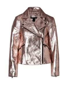 MARC BY MARC JACOBS Metallic Leather Jacket in Blush Foil