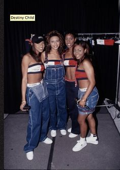 A look at the most emblematic coordinated looks of Destiny& child, outfit party hip hop, Style Hip Hop, Style Année 90, Hip Hop Fashion, Look Fashion, Fashion Outfits, Black 90s Fashion, Woman Outfits, Child Fashion, Destiny's Child
