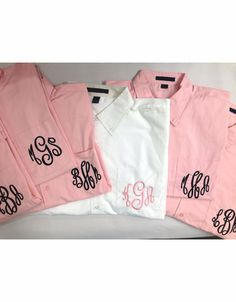 Monogrammed Getting Ready Shirts for the Bridal Party Custom Wedding Apparel - Bride - Groom - Wedding Party - Parents Shop Advantage Bridal for Bridal Party Getting Ready, Bridesmaid Getting Ready, Bridesmaid Shirts, Brides And Bridesmaids, Bridal Party Shirts, Perfect Bride, Monogram Wedding, Wedding Groom, Custom Shirts